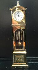 Vintage Bulova Grandfather Clock Miniature Collectible B0551