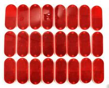 Lot of 24 Stick On Screw Down Car Truck Boat Trailer ATV Tractor Red Reflectors
