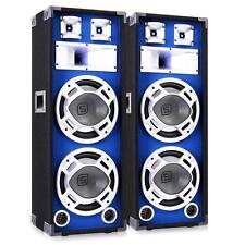 2 Stück 800W  DJ/PA 3-Wege Design Stand Bassboxen mit elegantem LED Lichteffekt