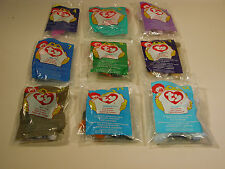TY BEANIE BABIES MCDONALDS NEW 1998 LOT OF 9 FROM #'S 4 THRU 12 CHINA