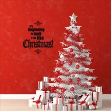 Huhome PVC Wall Stickers Wallpaper English chrismas Christmas party hotel home