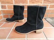 UGG Black Suede Ankle Boots 7.5 uk 40 *