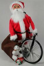 Byers' Choice Caroler 'Velvet Santa With Bicycle' Red 2013 Ltd Ed  #ZSS08  NWT