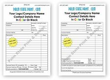 50 2 Part Personalized Duplicate Carbonless Invoice Sales Receipt Estimate Book