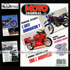 MOTO JOURNAL N°909 MOTOBECANE Z 54 C, SIDE-BIKE YAMAHA FJ 1200 YZ 125 & 250 1989