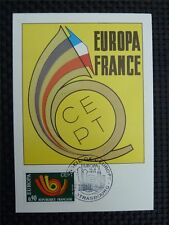 FRANCE MK 1973 EUROPA CEPT STRASBOURG MAXIMUMKARTE CARTE MAXIMUM CARD MC c2492
