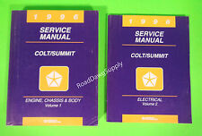 1996 Dodge Plymouth Colt Eagle Summit Wagon Service Shop Repair Manual Book Set