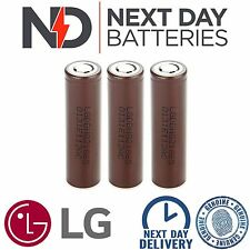 3 x GENUINE LG HG2 18650 3000mAh 20/30A HIGH DRAIN IMR RECHARGEABLE Li BATTERIES