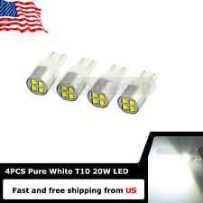 4PCS White 20W T10 912 W5W XBD CREE LED bulbs for Back up Marker Trunk Lights