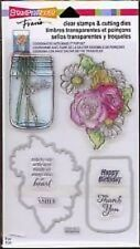 Stampendous Clear Stamps & Cutting Dies ~ Hello Birthday Mason Jar Flowers -#220