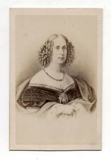 CDV - PHOTO - NEURDEIN PARIS - PORTRAIT DE LA REINE DE HOLLANDE CARTE DE VISITE