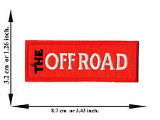 Red The Off Road 4x4 Jeep Automobile Pick-Up Logo Applique Iron on Patch Sew
