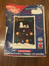 New Sealed Latch Hook SNOOPY Christmas Silent Night JP Coats Art Craft Picture C