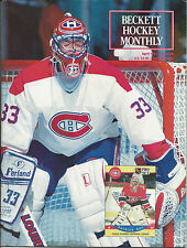 Patrick Roy on Cover Beckett Hockey April, 1991 Price Guide Adam Oates on Bk Cov