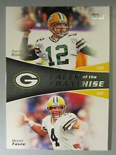 *Rare* 2011 Topps Faces of the Franchise #RF Aaron Rodgers / Brett Favre
