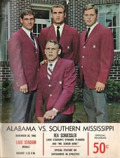 1966 Alabama Crimson Tide vs Southern Mississippi Golden Eagles Football Program