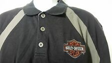 Harley Davidson Polo Shirt size XL Black Gray 100% Cotton Milwaukee WI