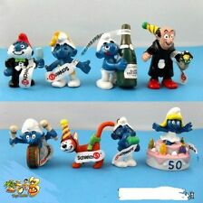 New 8 PCS The Smurfs Papa Smufette Anniversary Collection Figures