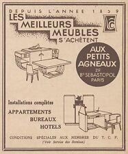 Z8596 Meubles AUX PETITS AGNEAUX - Pubblicità d'epoca - 1931 Old advertising
