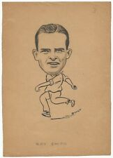 Cricket England Ray Smith 1940s sketch by cartoonist R Booch India Ӝ