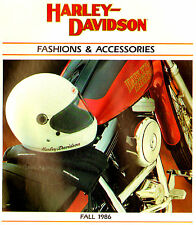 1986 FALL HARLEY-DAVIDSON MOTORCYCLE PARTS CLOTHING ACCESSORIES BROCHURE CATALOG
