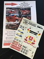DECALS 1/24 CITROEN XSARA KIT CAR PURAS RALLYE TOUR DE CORSE 1999 RALLY WRC
