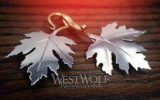 Maple Leaf Cloak Pins/Clasps Set -- Elven/Medieval/Viking/Celtic/Brooch/Silver