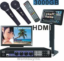 "19""Touch Screen Karaoke Jukebox 3TB HD System HDMI+Wired Microphones Worthbuyfhk"