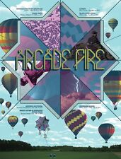 ARCADE FIRE EUROPEAN TOUR POSTER SILKSCREEN PRINT BY BURLESQUE DESIGN