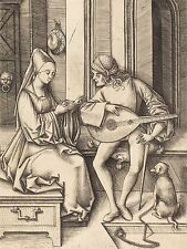 ISRAHEL VAN MECKENEM GERMAN LUTE PLAYER SINGER OLD ART PAINTING POSTER BB5725A