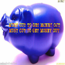 Piggy Plastic Bank All Seasons Gift Pig Unbreakable MUST CUT TO GET MONEY OUT