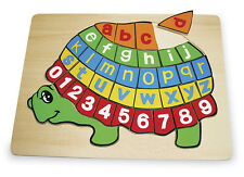 ABC PUZZLE Turtle wooden jigsaw alphabet letters NEW