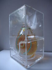 M MICALLEF No11 CRISTAL VINTAGE RARE SWAROVZKI YELLOW & GREEN GEMS SEALED CASE