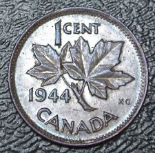OLD CANADAIN COIN 1944 - ONE CENT - George VI - WWII era