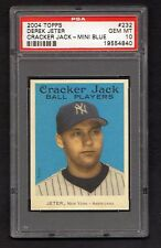 Derek  Jeter 2004 Topps BLUE  Mini Cracker Jack ssp pop 3 card gem mint  psa  10