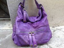 Sac gerard darel st germain Midday Midnight 36h Cuir Violet Flashy