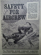 4/1962 PUB WALTER KIDDE AIRCREW SAFETY LIFERAFT MARTIN BAKER EJECTION SEAT AD