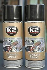 2x K2 PRO CONTACT SPRAY ELECTRIC & ELECTRONIC CLEANER parts switches etc 400ml