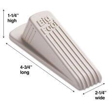 Master Caster Big Foot Doorstop, No-Slip Rubber Wedge, Beige