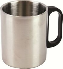 Large Steel Insulated Mug - 300ml Silver Cup / Camping Mug For Hot Drinks