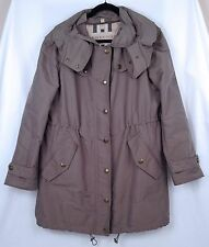 Burberry Brit Maidleigh Hooded Long Sleeve Jacket-  Size Large- Khaki Green $750