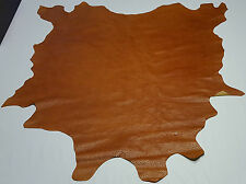 Leather cow hide caramel tan embossed ostrich upholstery crafts cowhides ts-6191