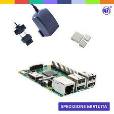 Raspberry Pi 3 Kit Black (M12) con Alimentatore Ufficiale e Dissipatori
