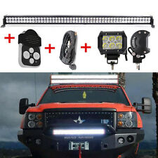 50INCH LED LIGHT BAR +2x 4INCH CREE PODS FOR TOYOTA GMC FORD F150 JEEP WAGON JK