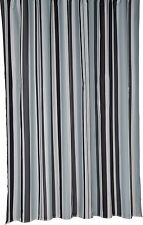Bathroom Stripe Mould-Resistant Bath Shower Curtain Trendy  (Croydex) BLACK #259