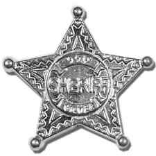 5 Troy oz Monarch Precious Metals Hand Poured Sheriff's Badge .999 Fine Silver B