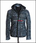 Ghost Protocol Mission Impossible Antique Blue Men's Hooded Real Leather Jacket