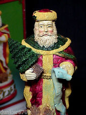 WINDSOR COLLECTIBLE SAINTLY SANTA MUSIC BOX RESIN CONSTRUCTION WORKING WINDUP