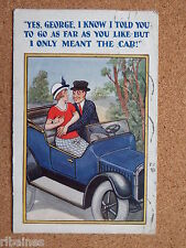 R&L Postcard: Comic, Gentleman & Lady Classic Car 1923, Sexual Humour