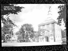 1940's The Market Place and Town Hall in New Castle, DE Delaware PC
